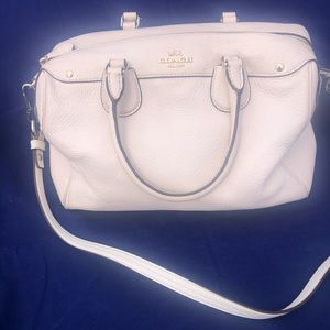 Coach leather satchel (off-white)